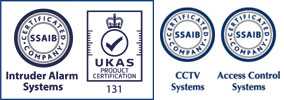 SSAIB Security Certified Invader Security Alarms, CCTV, Access Control